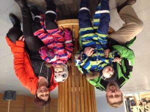 Boris, William, Minea och Nina Granmo firade tvillingdagen i Rewell Center.