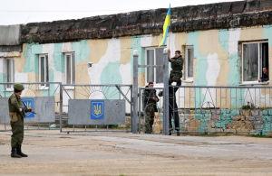 Ukrainsk militärbas utanför Sevastopol