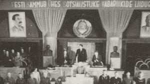 Estlands nyvalda kommunistiska parlament utropar landet till socialistisk sojvetrepublik sommaren 1940.