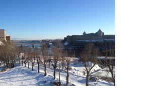 Fästningen Ivangorod i Narva.