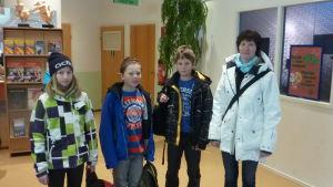 Emilia Sandtröm, Teo Söderholm, Magnus Latto och Camilla Östman
