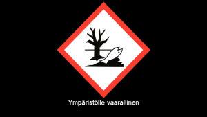 """Varoitusmerkki \""""Ympäristölle vaarallinen\"""""""