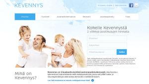 Näkymä Fennotuonti Oy:n Kevennys - nettipalvelusta
