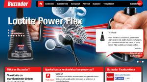 Näkymä Buzzadorin nettisivulta