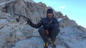 Samuli Mansikka kiipeilemässä Perussa