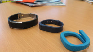 Testituotteina Polar Loop, Fitbit Flex ja Jawbone Up.
