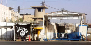 Isis flagga i Mosul