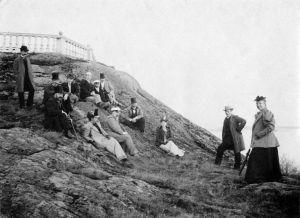 Korkeasaari vappuna noin v. 1900.