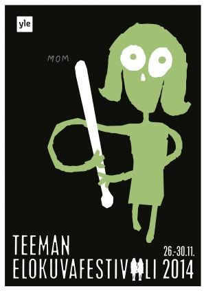 """Teeman elokuvafestivaalin 2014 juliste """"Mom"""""""