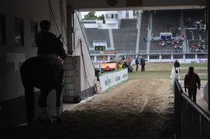 Ratsukko menossa kentälle
