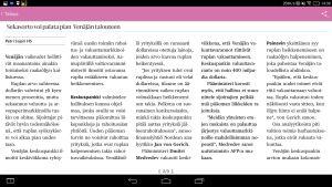 Kuvakaappaus HS.fi-sovelluksesta Yoga Tablet 2 Pro -tabletin ruudulla