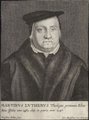 Wenceslaus Hollar:  Martin Luther; muotokuva