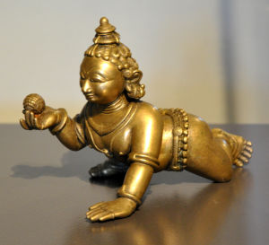 Krishna as child holding a ball of butter, India, Orissa, c. 1800; bronze; Museum Rietberg, Zurich