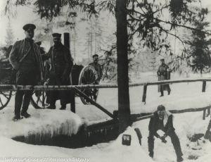Jääkäripataljoona 27 Aa-joella (1917).