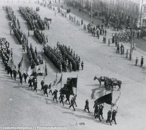 Jääkäreiden vastaanotto Vaasassa 26.2.1918