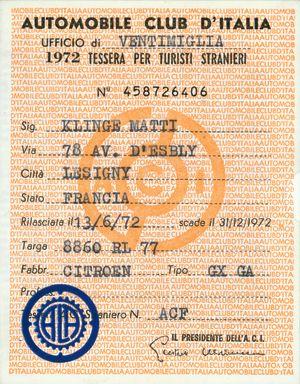 Italialainen autokortti