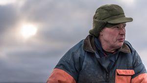 Fiskaren Ulf Granqvist ute på isen 2015