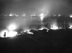 Muonio brinner, Lapplandskriget