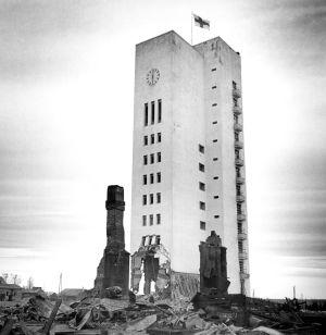 Stadshuset i Kemi har bombats, Lapplandskriget