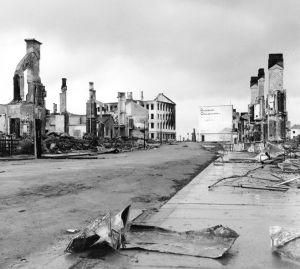 Rovaniemi har bombats i Lapplandskriget