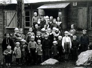 Barn i karantän i Haparanda, Lapplandskriget