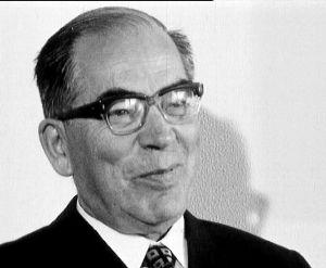 Turun yliopiston kansleri Tauno Nurmela (1972).
