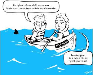 nyhetsskolan, serieteckning
