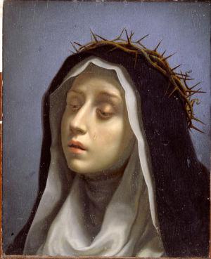 Carlo Dolcin maalaus Katariina Sienalaisesta (1665-1670)