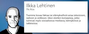 Ilkka Lehtinen, Yle Asia