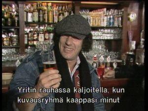 AC/DC-yhtyeen Brian Johnsson yllätettiin kaljalta.