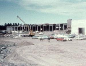 Saabin tehtaiden rakennustyömaa