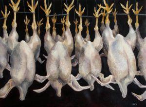 Heidi Huovisen maalaus Kariniemen kuolleet pojat (2011)