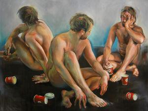 Erno Peltosen maalaus Early morning alkaloids III