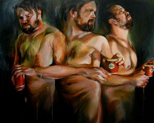 Erno Peltosen maalaus Ennen valoa, pimeän jälkeen.