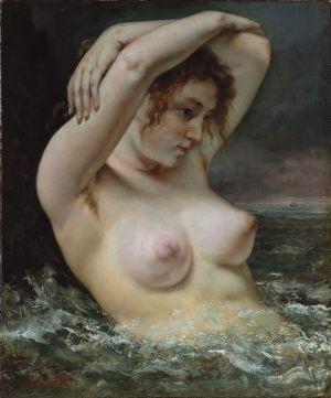 La Femme dans les vagues. Gustave Courbet (1868)
