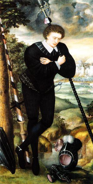 Melankolinen nuorukainen. Tuntematon taiteilija 1500-luvulta.
