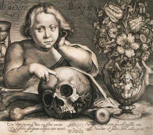 Simon de Passe: Memento mori (1612)