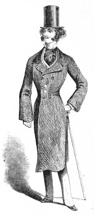 Onko viikset vahattuna? New Yorkilainen dandy vuodelta 1855.