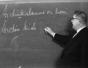 Kielioopiharjoitus poliisiopistossa 1962.