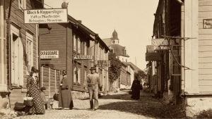 kyrkogatan på 1890-talet