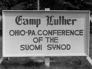 Camp Luther -kyltti (1947).
