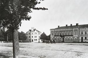 Lovisa rådhustorget taget 1908