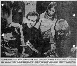 Ilta-Sanomista 20.1.1971. Teemana elokuvien jälkeisessä keskustelussa oli muun muassa eläinkuvaus.