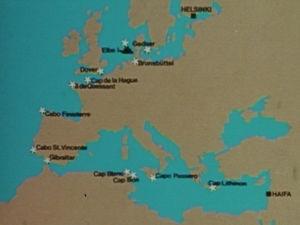 Rahtialus Pallaksen reitti Haifasta Helsinkiin.