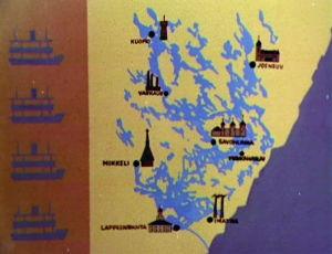 Karttakuva Suur-Saimaan alueen kaupungeista