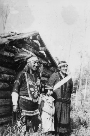 Chief medicine man Axel Pasey and family at Grand Portage Minnesota