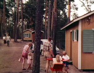 Lomamökkejä Punkaharjulla 1961