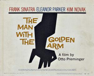 Elokuvan Kultainen käsivarsi mainosjuliste
