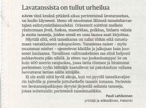 Mielipidekirjoitus Helsingin Sanomissa 30.8.2015