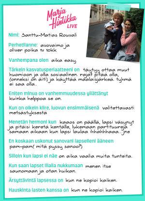Minä vanhempana: Santtu-Matias Rouvali